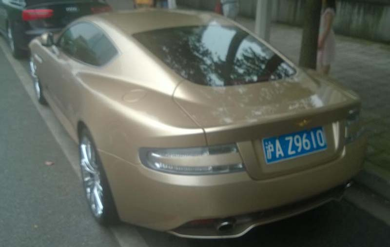 Goldenes Auto in Shanghai